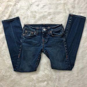 Great shape True Religion bootcut girls jeans